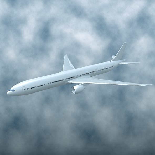 Boeing 777-300 er auglýsing flugvél 3d líkan 3ds fbx blanda lwo obj 161584