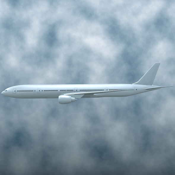boeing 777-300 er commercial airliner 3d model 3ds fbx blend lwo obj 161585