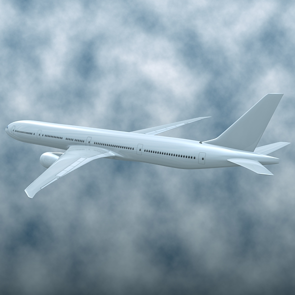 boeing 777-300 er commercial airliner 3d model 3ds fbx blend lwo obj 161586