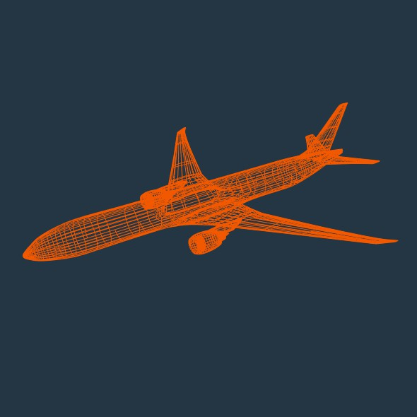boeing 777-300 er commercial airliner 3d model 3ds fbx blend lwo obj 161590