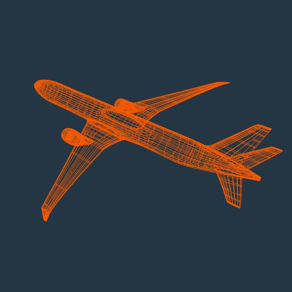 boeing 777-300 er commercial airliner 3d model 3ds fbx blend lwo obj 161591