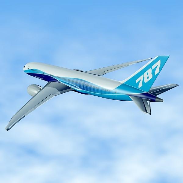 boeing 787-8 commercial airliner 3d model 3ds fbx blend lwo obj 138399