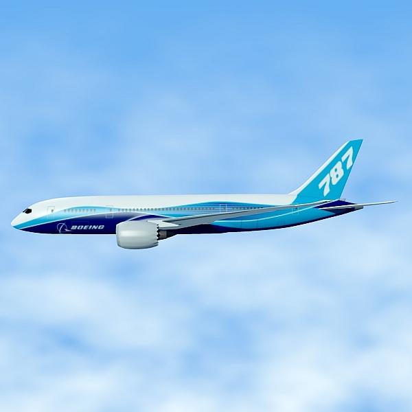 boeing 787-8 commercial airliner 3d model 3ds fbx blend lwo obj 138401