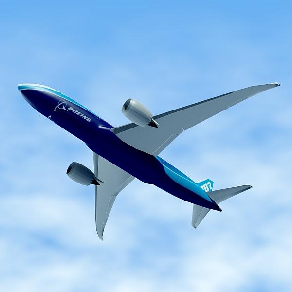 boeing 787-8 commercial airliner 3d model 3ds fbx blend lwo obj 138402