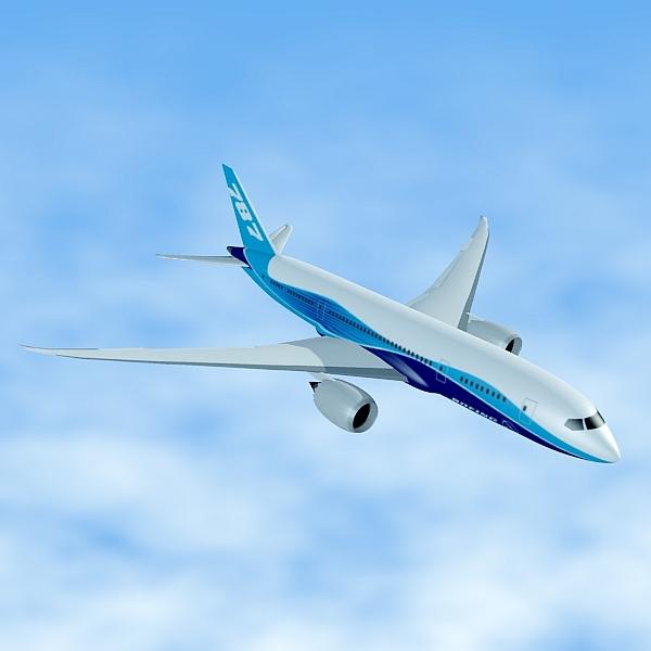 boeing 787-8 commercial airliner 3d model 3ds fbx blend lwo obj 138403