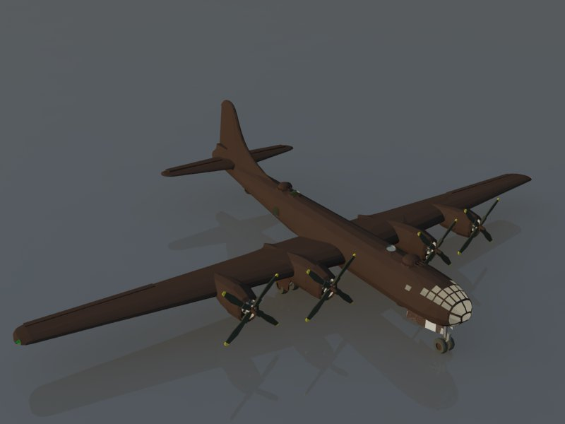 model b-29 3d 3ds dxf dwg skp obj 163545