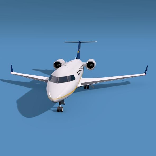 bombardier challenger 600 private jet 3d model 3ds fbx blend dae lwo obj 163705
