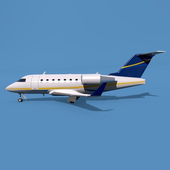bombardier challenger 600 private jet 3d model 3ds fbx blend dae lwo obj 163706