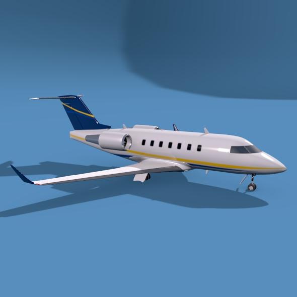 bombardier challenger 600 private jet 3d model 3ds fbx blend dae lwo obj 163708