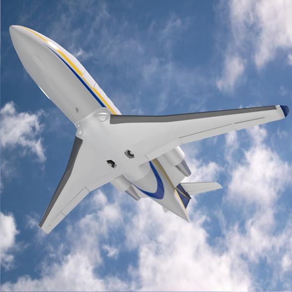 bombardier challenger 600 private jet 3d model 3ds fbx blend dae lwo obj 163709