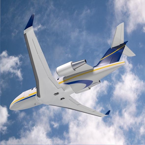bombardier challenger 600 private jet 3d model 3ds fbx blend dae lwo obj 163710