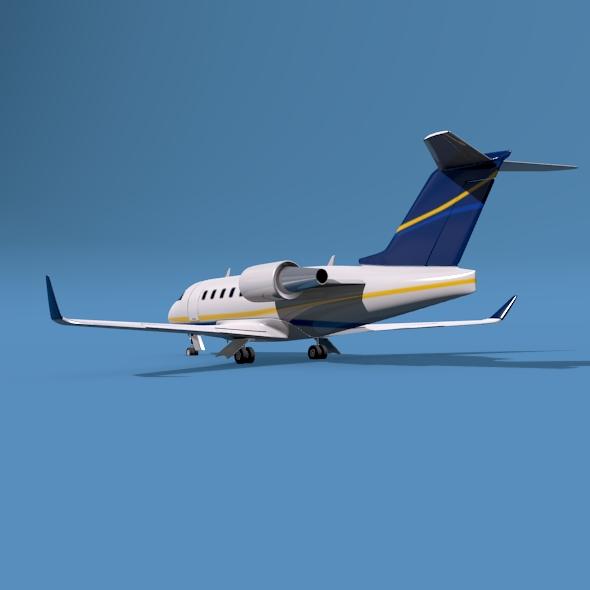 bombardier challenger 600 private jet 3d model 3ds fbx blend dae lwo obj 163712