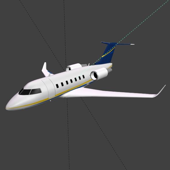 bombardier challenger 600 private jet 3d model 3ds fbx blend dae lwo obj 163713