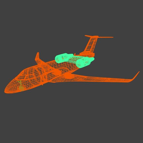 bombardier challenger 600 private jet 3d model 3ds fbx blend dae lwo obj 163714