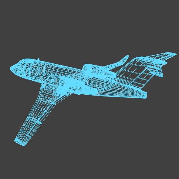bombardier challenger 600 private jet 3d model 3ds fbx blend dae lwo obj 163715