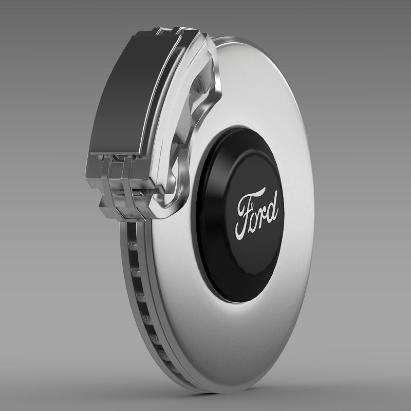 brake of ford mustang 3d model 3ds max fbx c4d lwo ma mb hrc xsi obj 141390