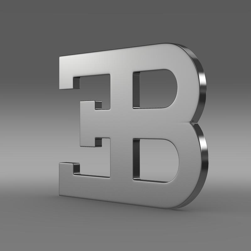 bugatti rear logo 3d model 3ds max fbx c4d lwo ma mb hrc xsi obj 151287