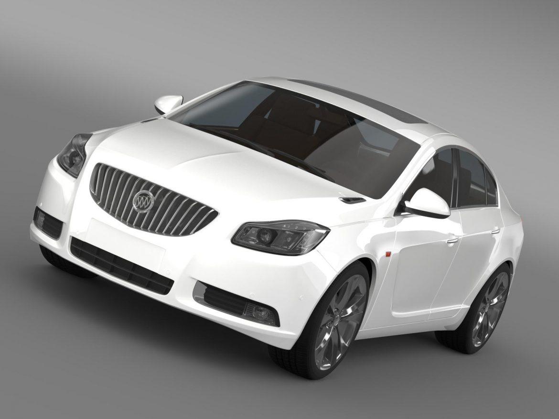 buick regal 2011-2013 3d model 3ds max fbx c4d lwo ma mb hrc xsi obj 165426