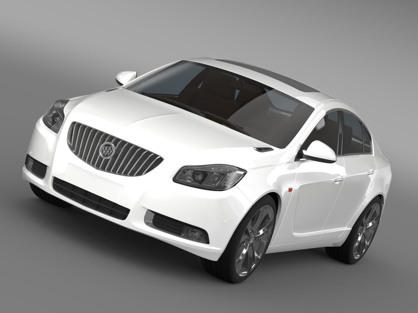buick regal 2011-2013 3d model 3ds max fbx c4d lwo ma mb hrc xsi obj 165426