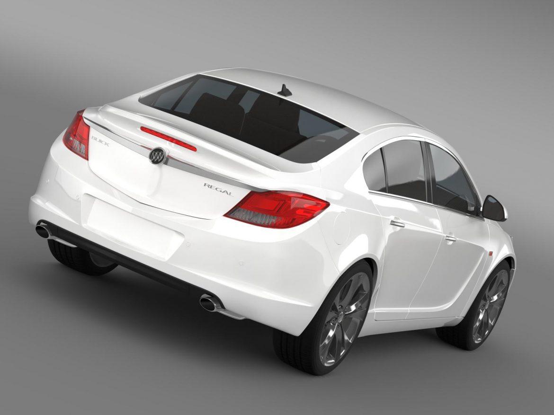 buick regal 2011-2013 3d model 3ds max fbx c4d lwo ma mb hrc xsi obj 165427