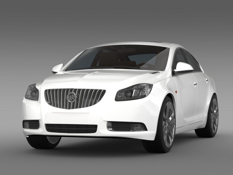 buick regal 2011-2013 3d model 3ds max fbx c4d lwo ma mb hrc xsi obj 165428