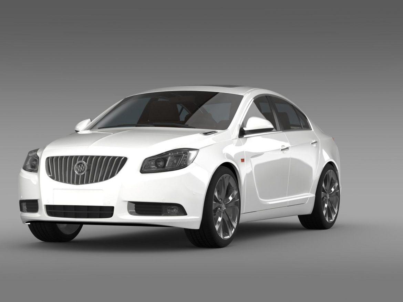 buick regal 2011-2013 3d model 3ds max fbx c4d lwo ma mb hrc xsi obj 165429