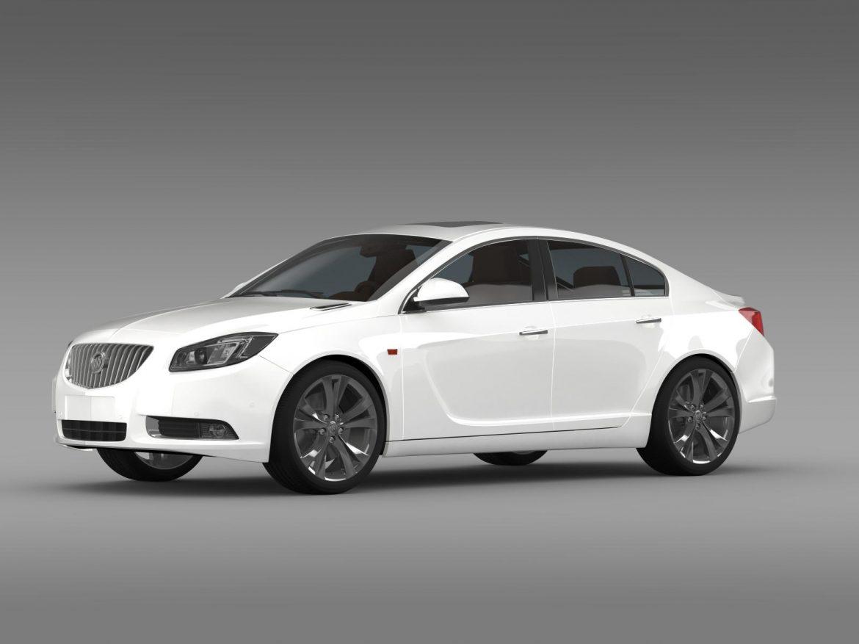 buick regal 2011-2013 3d model 3ds max fbx c4d lwo ma mb hrc xsi obj 165430