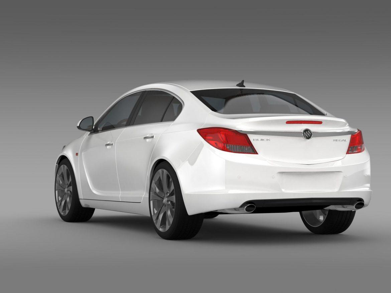 buick regal 2011-2013 3d model 3ds max fbx c4d lwo ma mb hrc xsi obj 165433