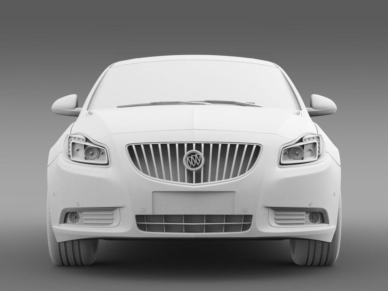 buick regal 2011-2013 3d model 3ds max fbx c4d lwo ma mb hrc xsi obj 165437