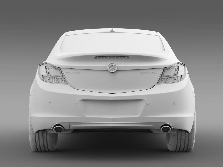buick regal 2011-2013 3d model 3ds max fbx c4d lwo ma mb hrc xsi obj 165438