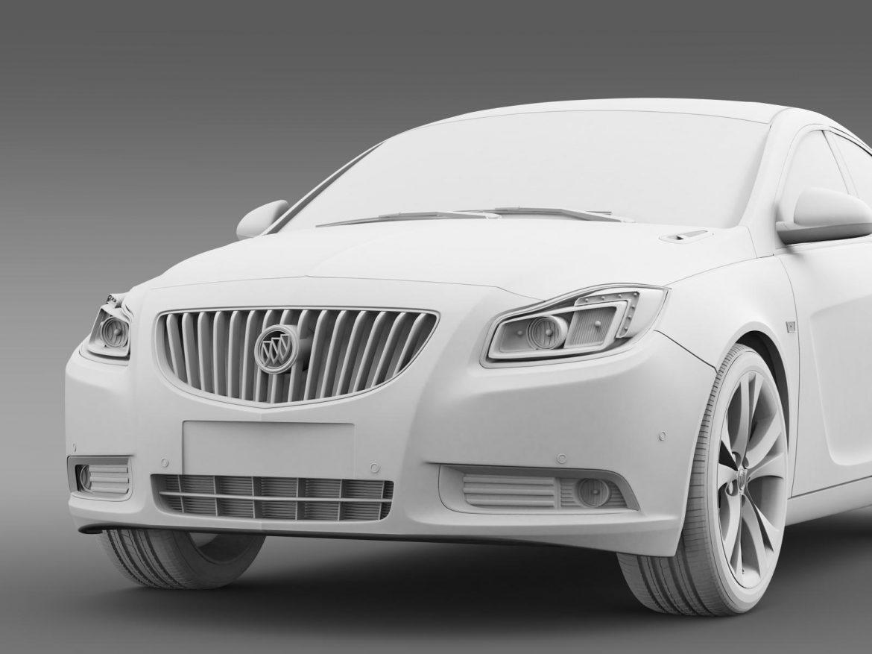 buick regal 2011-2013 3d model 3ds max fbx c4d lwo ma mb hrc xsi obj 165439