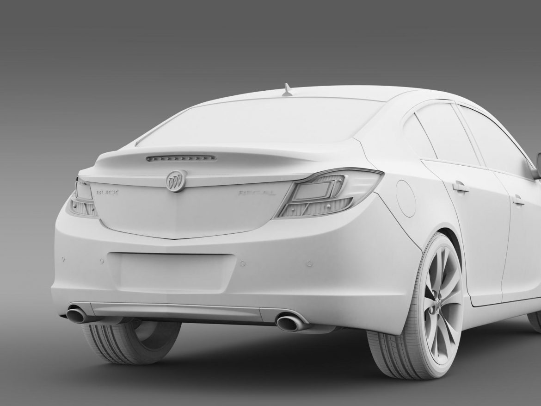 buick regal 2011-2013 3d model 3ds max fbx c4d lwo ma mb hrc xsi obj 165440