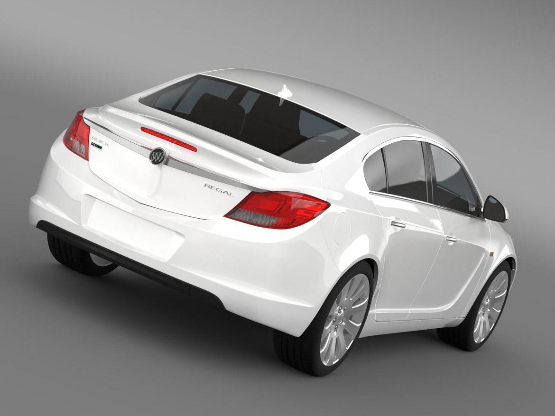 buick regal flexfuel 2011-2013 3d model 3ds max fbx c4d lwo ma mb hrc xsi obj 165445