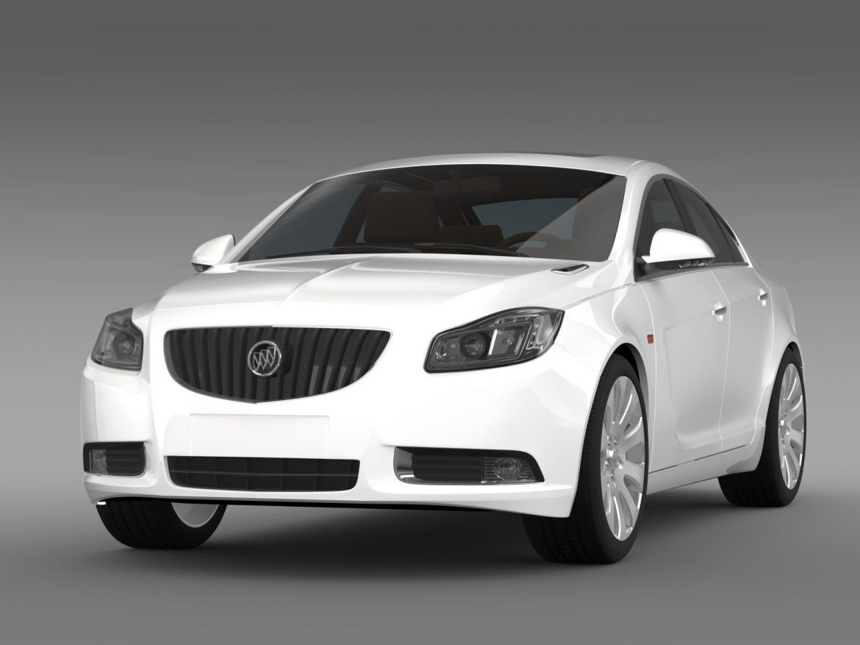 buick regal flexfuel 2011-2013 3d model 3ds max fbx c4d lwo ma mb hrc xsi obj 165446