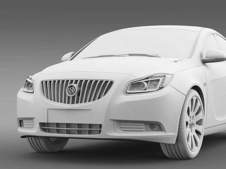 buick regal flexfuel 2011-2013 3d model 3ds max fbx c4d lwo ma mb hrc xsi obj 165457