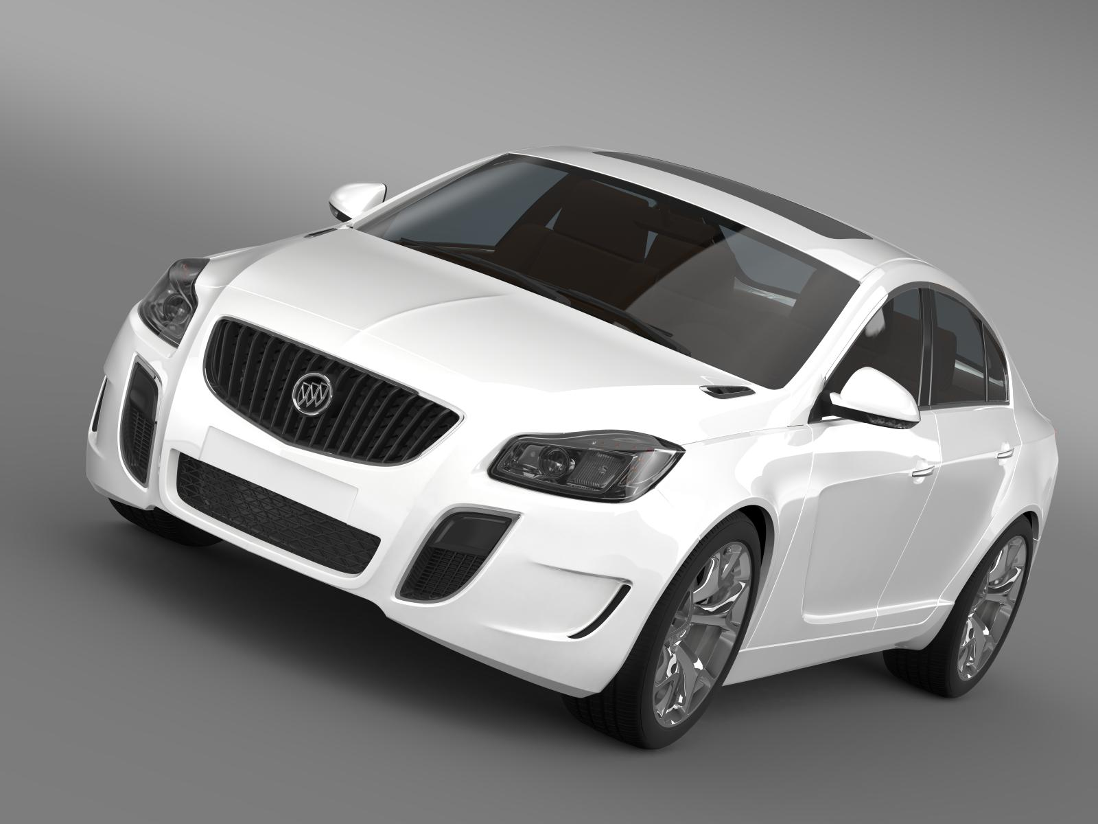 buick regal gs 2011-2013 3d model 3ds max fbx c4d lwo ma mb hrc xsi obj 164687