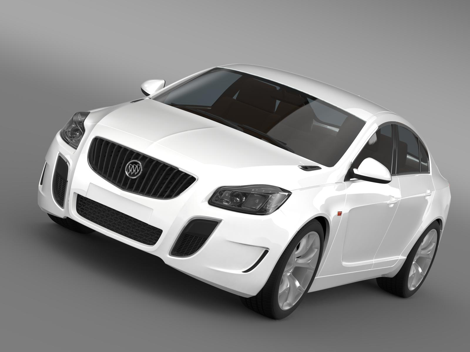 buick regal gs concept 2010 3d model 3ds max fbx c4d lwo ma mb hrc xsi obj 164492