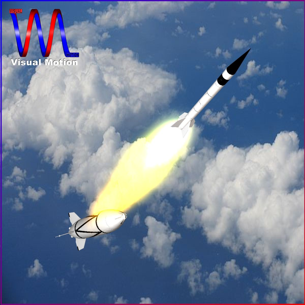 bumper wac – two stage sounding rocket 3d model 3ds dxf cob x obj 162843