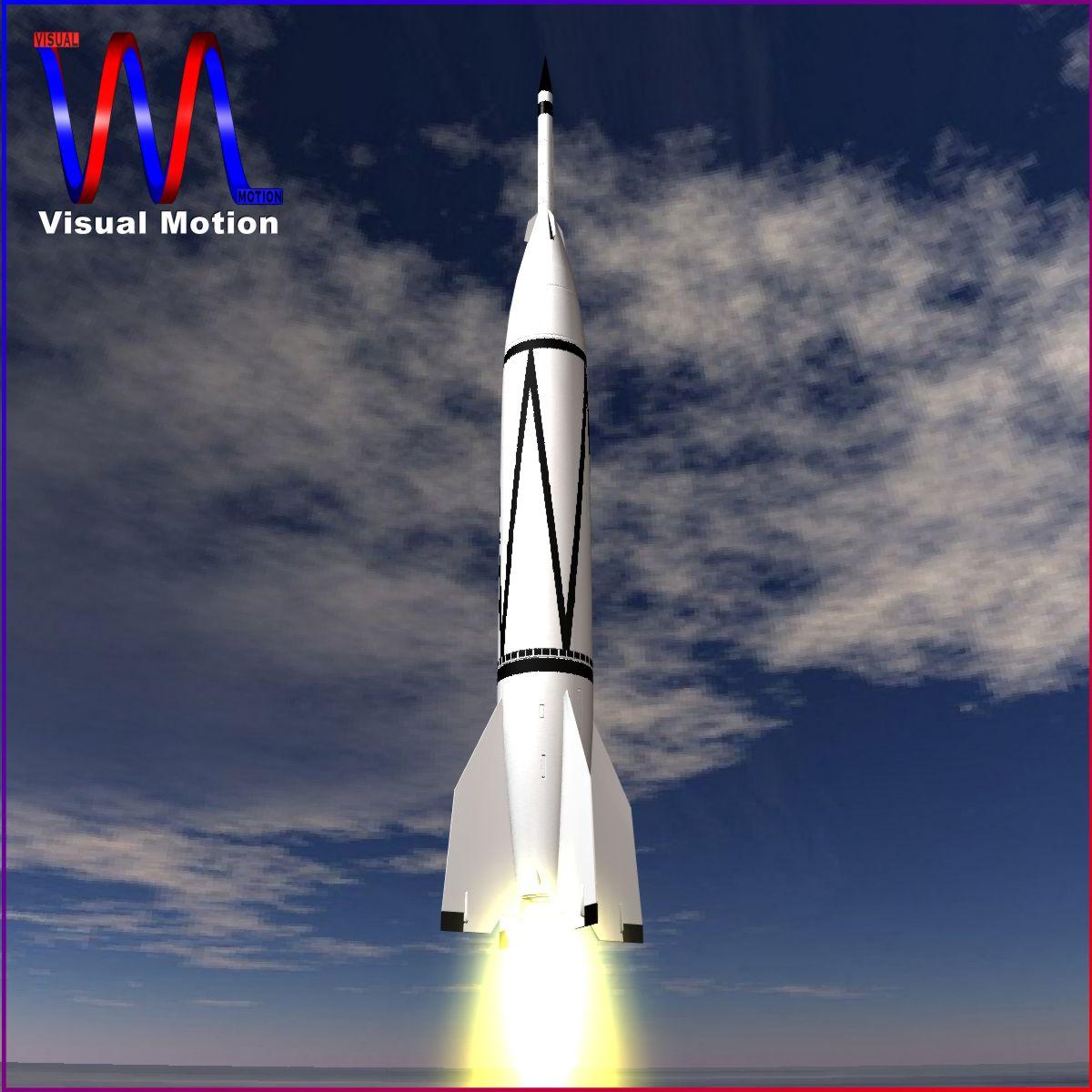 Bumper WAC - Two Stage Sounding Rocket 3d model 3ds dxf cob X obj 162842
