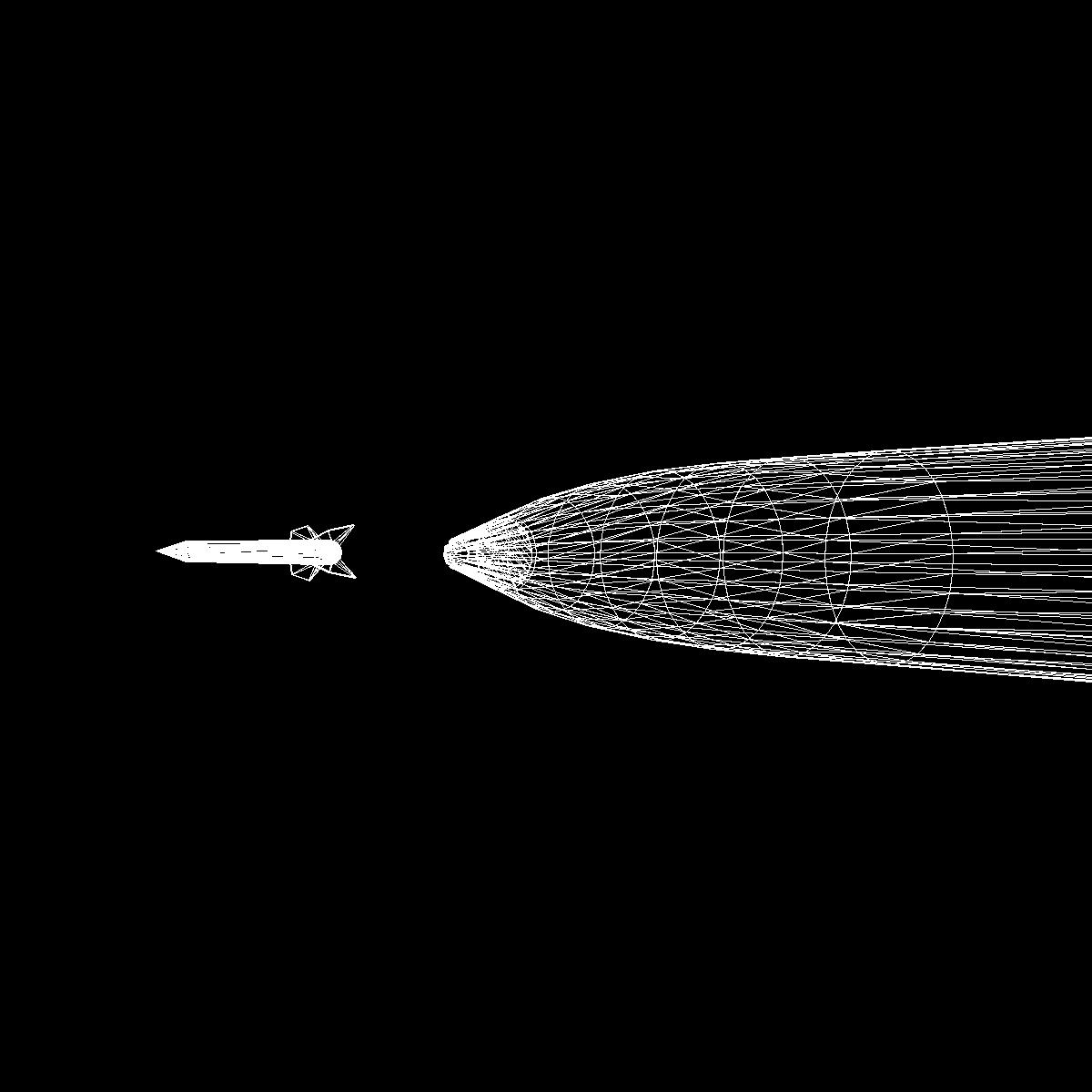 Bumper WAC - Two Stage Sounding Rocket 3d model 3ds dxf cob X obj 162859