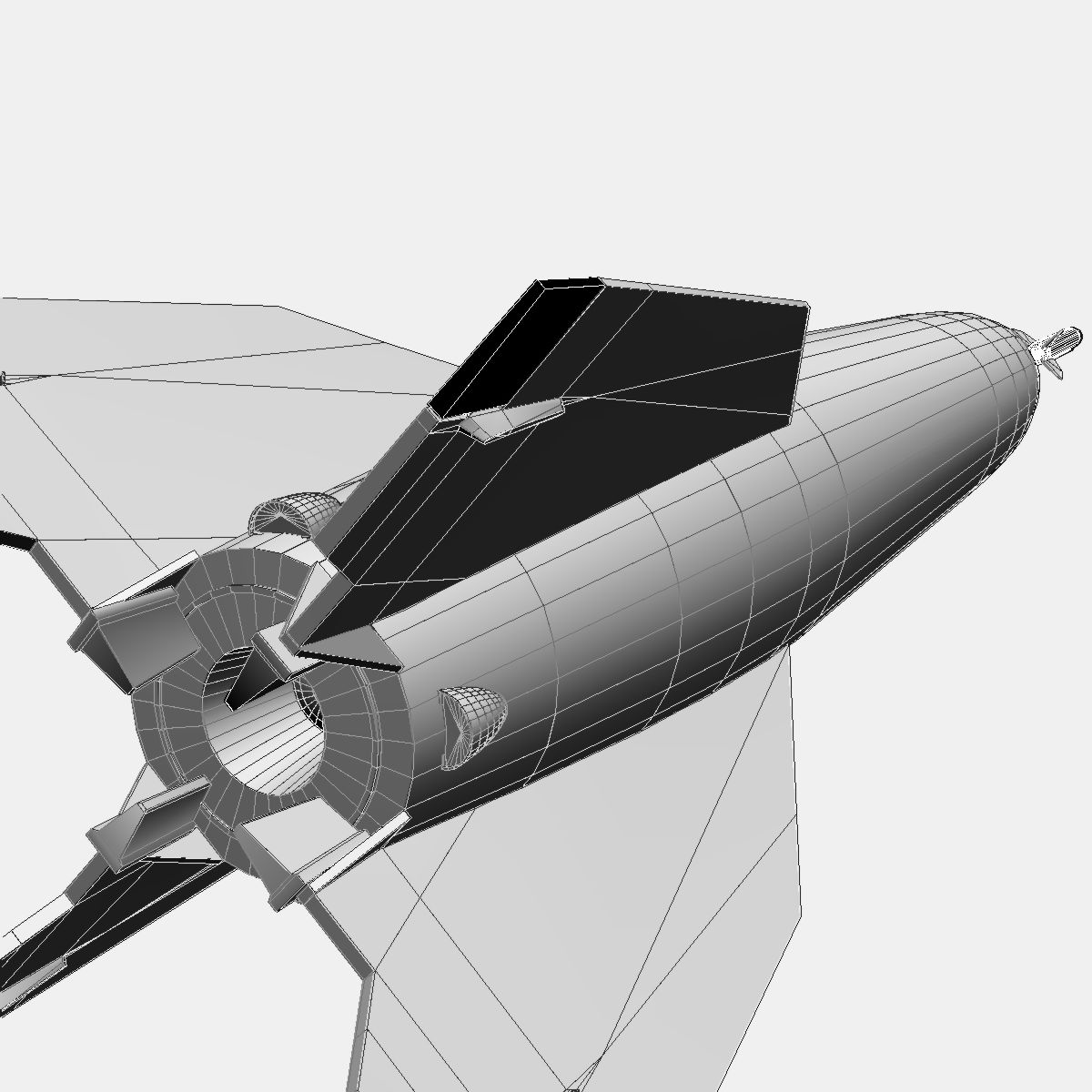 Bumper WAC - Two Stage Sounding Rocket 3d model 3ds dxf cob X obj 162863