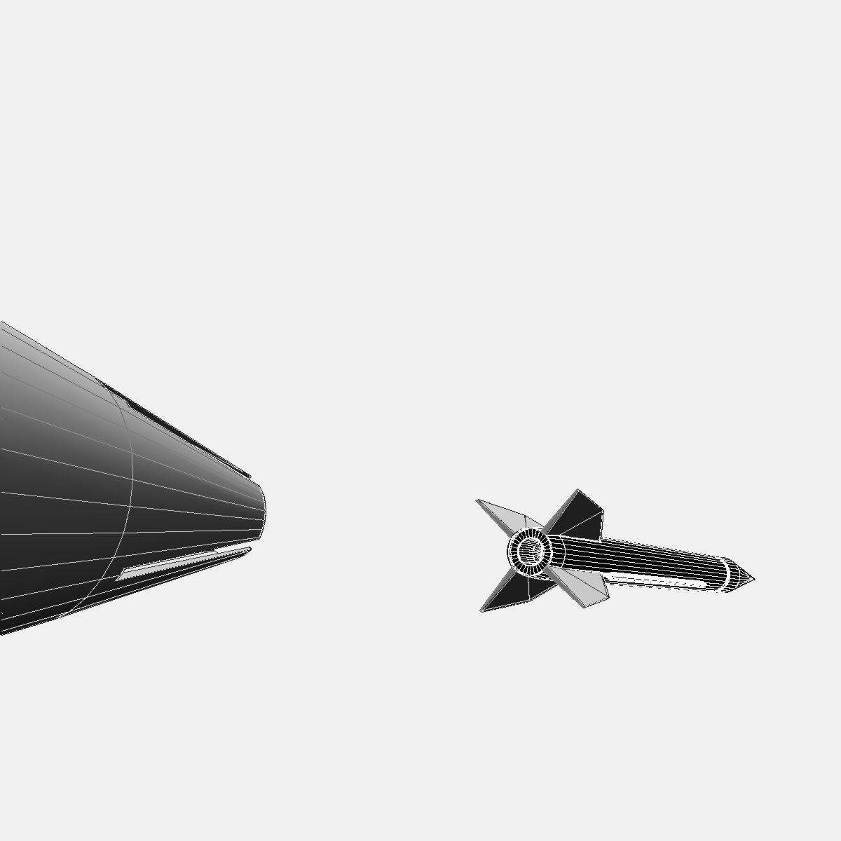 Bumper WAC - Two Stage Sounding Rocket 3d model 3ds dxf cob X obj 162865