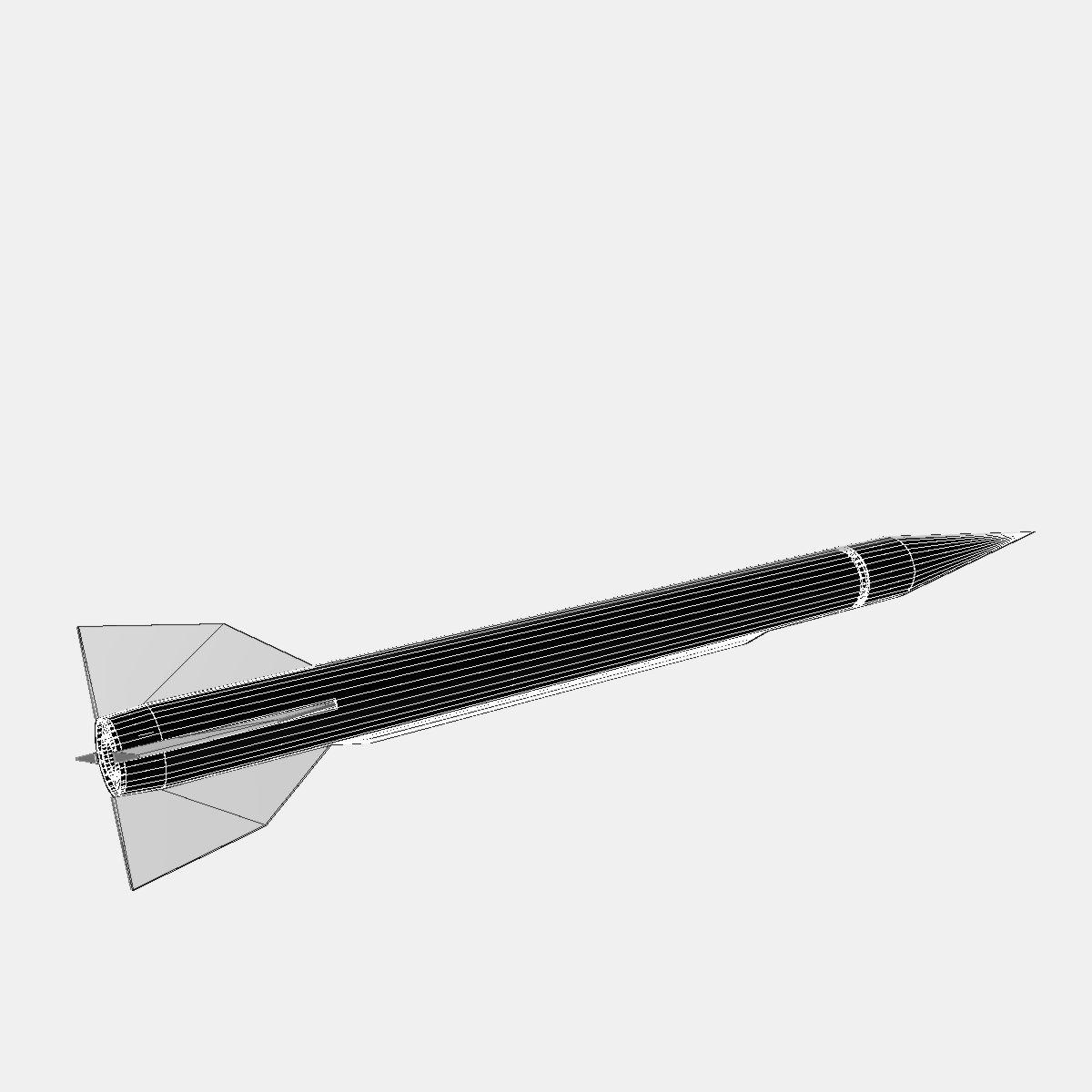 Bumper WAC - Two Stage Sounding Rocket 3d model 3ds dxf cob X obj 162866
