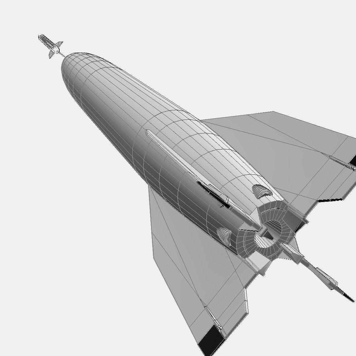 Bumper WAC - Two Stage Sounding Rocket 3d model 3ds dxf cob X obj 162869