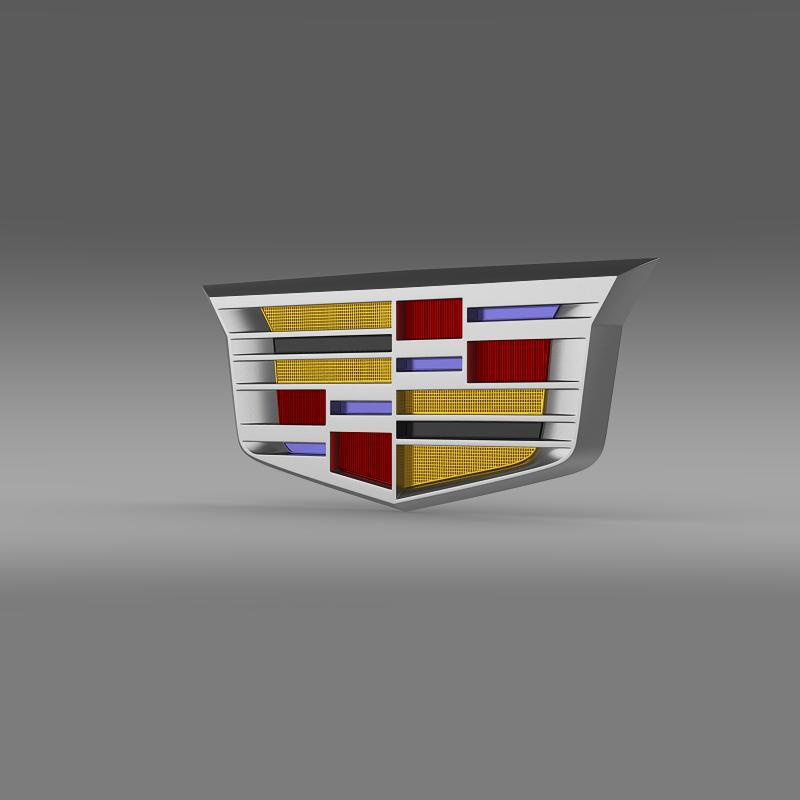 cadillac 2014 logotip 3d model 3ds max fbx c4d