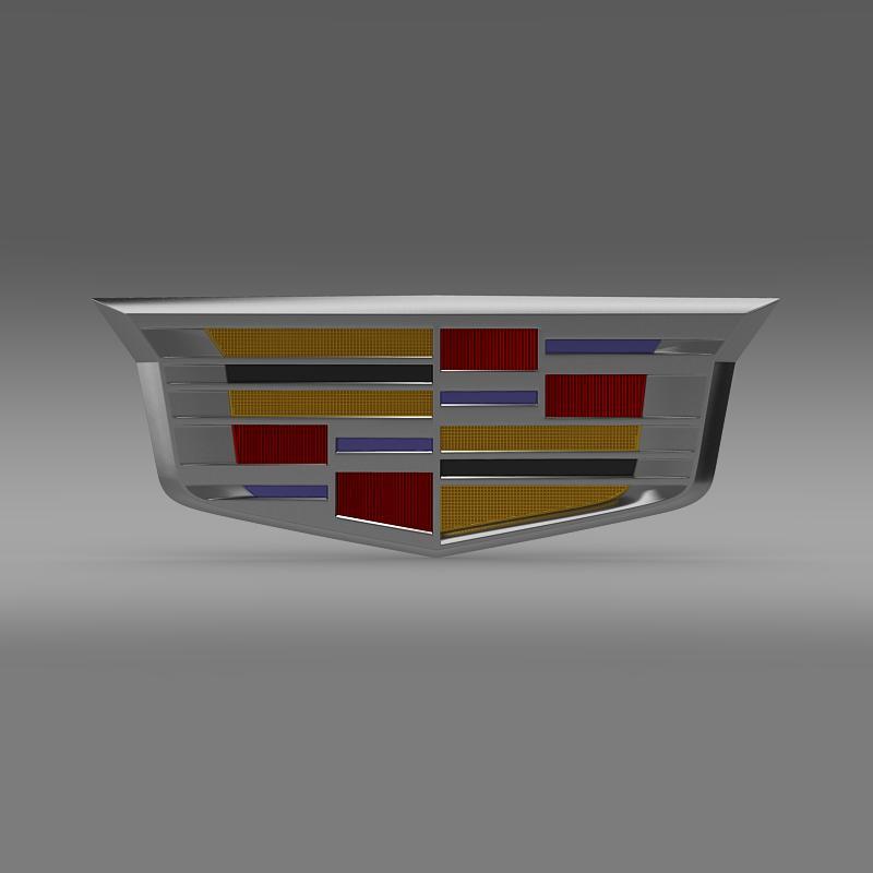 cadillac 2014 logo 3d model 3ds max fbx c4d lwo ma mb hrc xsi obj 162633