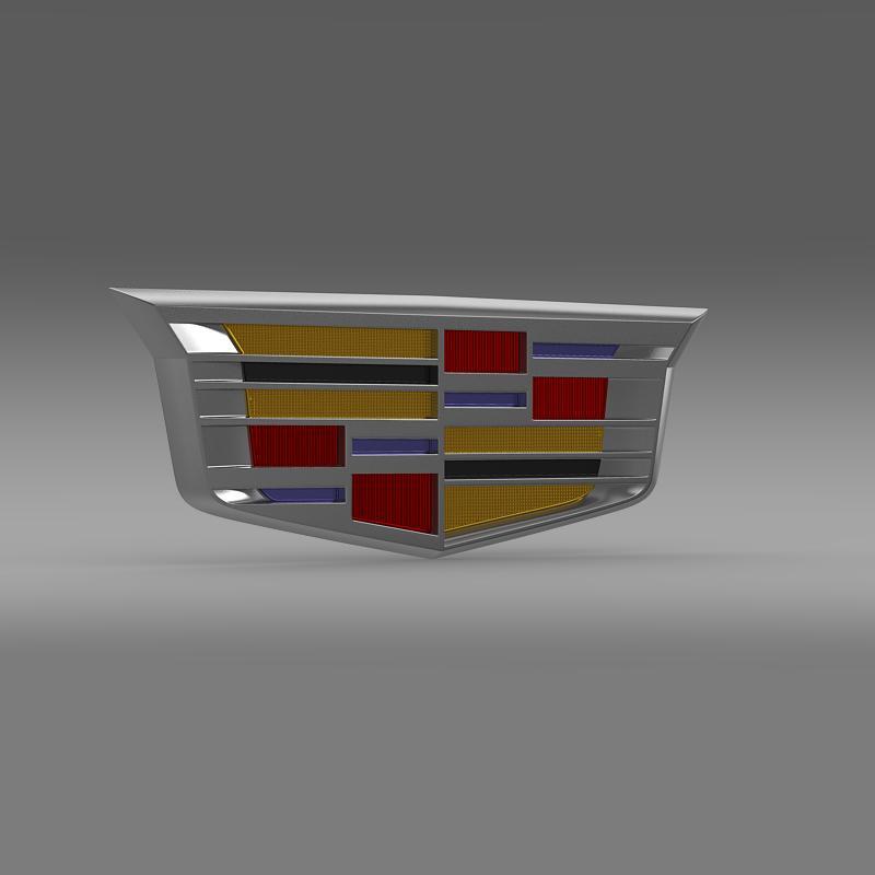 cadillac 2014 logo 3d model 3ds max fbx c4d lwo ma mb hrc xsi obj 162634