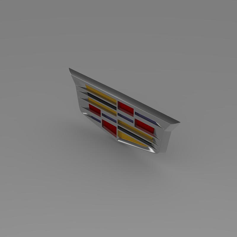 cadillac 2014 logo 3d model 3ds max fbx c4d lwo ma mb hrc xsi obj 162635