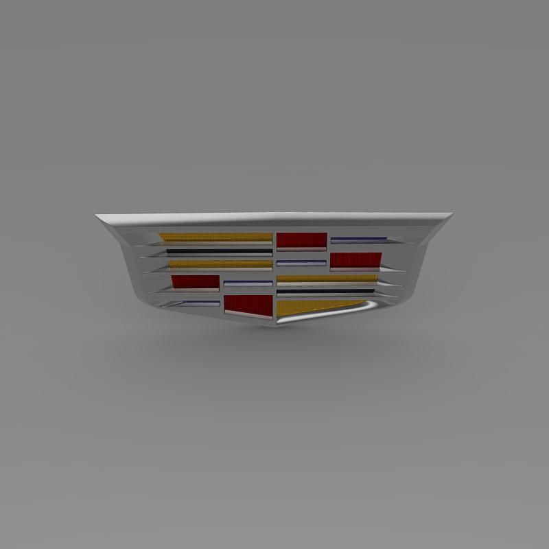 cadillac 2014 logo 3d model 3ds max fbx c4d lwo ma mb hrc xsi obj 162636