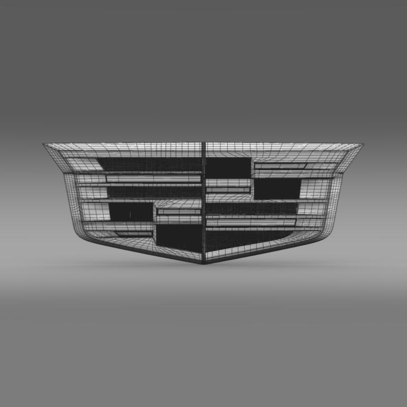 cadillac 2014 logo 3d model 3ds max fbx c4d lwo ma mb hrc xsi obj 162638